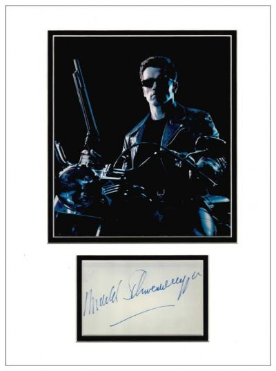 Arnold Schwarzenegger Autograph Signed Display